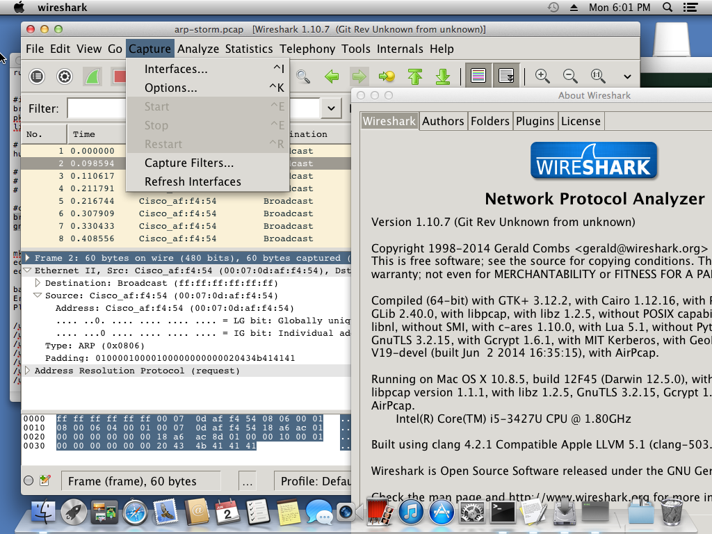 Beautiful Wireshark on OS X using Homebrew and GTK+3/Quartz