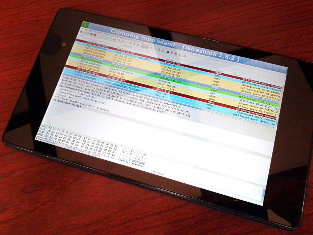 Wireshark running on Android using Lil'Debi